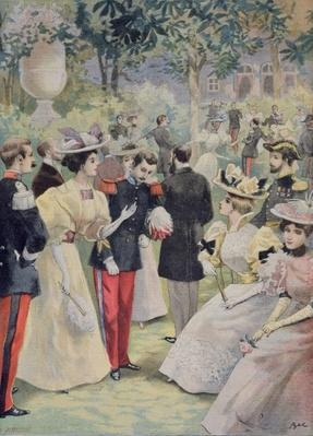 A Garden party at the Elysee, illustration from 'Le Petit Journal', 21st July 1895