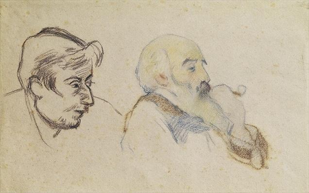 Portrait of Pissarro by Gauguin and Portrait of Gauguin by Pissarro