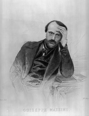 Giuseppe Mazzini, from 'The Drawing Room Portrait Gallery of Eminent Personages'