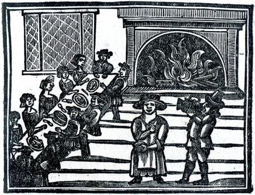 Christmas Entertainment, an illustration from 'A Book of Roxburghe Ballads'