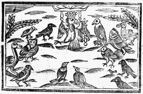 The Woody Choristers or The Birds Harmony, an illustration from 'A Book of Roxburghe Ballads'