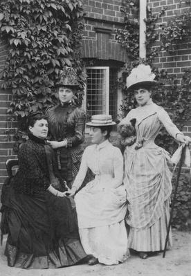 Jennie Jerome, later Lady Randolph Churchill, with her mother and sisters