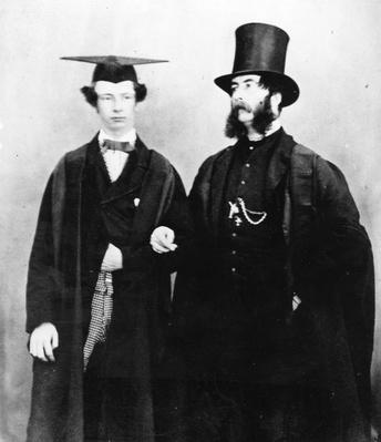 Arthur Munby and his father, c.1851