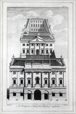 A Perspective View of the Bank of England, engraved by William Henry Toms, 1739