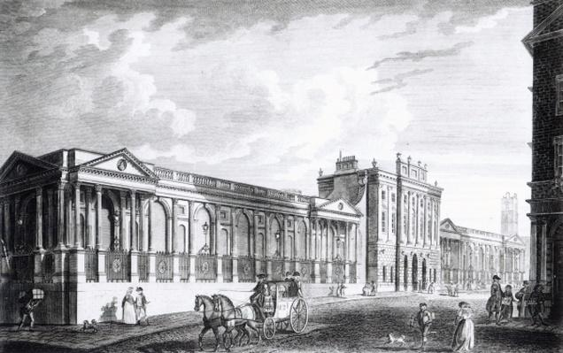 A View of the Bank of England, Threadneedle Street, London, 1797