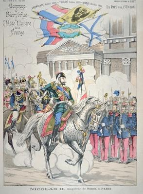 Nicholas II visits Paris in October 1896