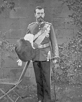 Tsar Nicholas II wearing the uniform of the Royal Scots Greys, 1894
