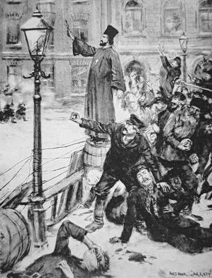 Father Gapon leads the public protest to the Winter Palace, St. Petersburg on 22nd January 1905
