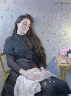 The Sleeping Flower Girl, 1892