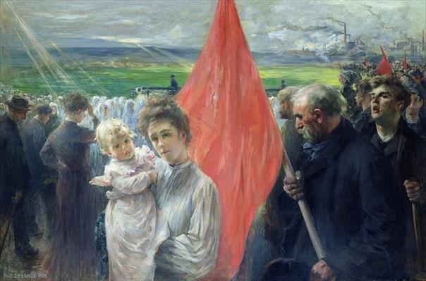 A Strike at Saint-Ouen, 1908