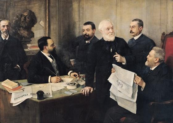 The Board of Directors of 'La Republique Francaise', 1890