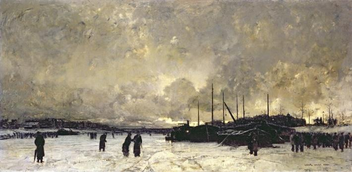 The Seine in December, 1879