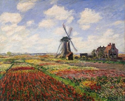 Tulip Fields with the Rijnsburg Windmill, 1886