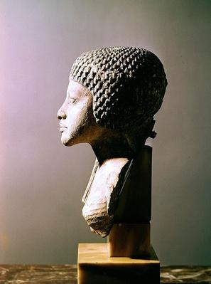 Left profile of the head of a Princess from the family of Akhenaten, New Kingdom