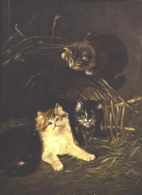Kittens Playing, 19th century