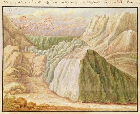 Ms 1798 fol.115 Grindelwald Glacier in the Alps, 1709