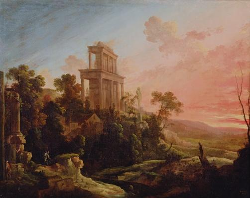 Landscape with Setting Sun, 1705