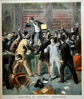 Election of the new President, from the illustrated supplement of 'Le Petit Journal', 9th July 1894