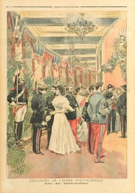 The Centenary of the Ecole Polytechnique: A ball at the Trocadero, from the illustrated supplement of 'Le Petit Journal, 28th May 1894