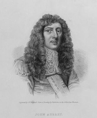 John Aubrey, engraved by Charles Eden Wagstaff