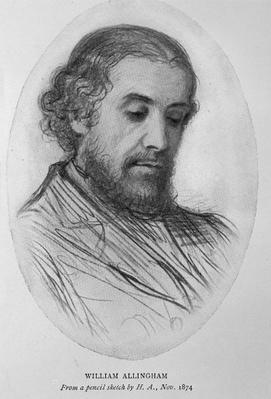 William Allingham, 1874
