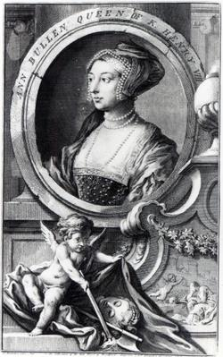 Anne Boleyn, engraved by Jacobus Houbraken, 1738