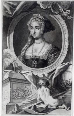 Jane Seymour, engraved by Jacobus Houbraken, 1746