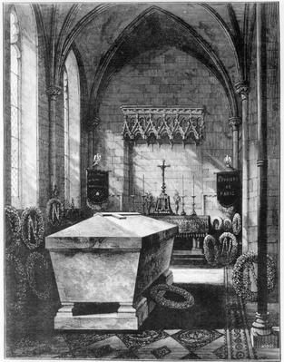 The Mortuary Chapel at St. Mary's Church, Chislehurst, holding the tomb of Emperor Napoleon III and his son, the Prince Imperial
