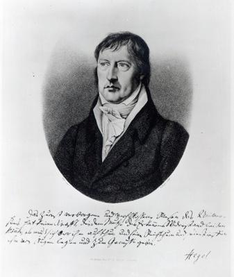 Georg Wilhelm Friedrich Hegel, engraved by F.W Bollinger, c.1825