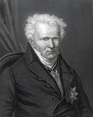 Alexander von Humboldt, engraved by C. Cook