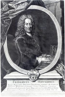 Friedrich Hoffmann, engraved by F.G Wolffgang, 1735