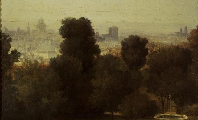 Paris seen from the Heights of Belleville, c.1830