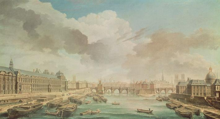 The Louvre, the Pont Neuf and the College des Quatre Nations, 1755