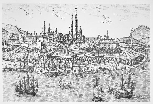 View of Quebec in 1690