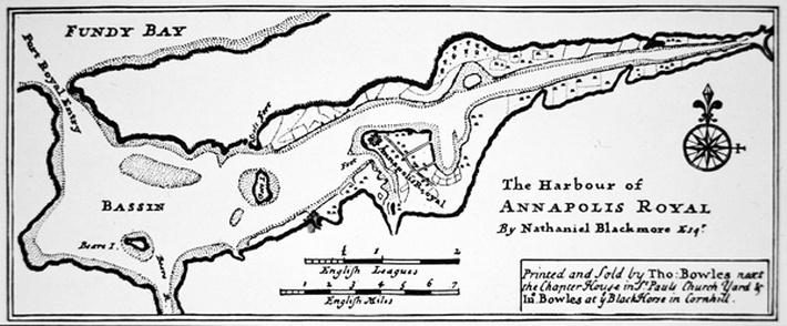 Map of Port Royal in 1720