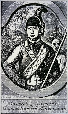 Major Robert Rogers, commander of 'Rogers Rangers' in the British cause during the French and Indian War of 1755-63