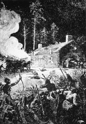 Hostile Indians attack the settlement of Brookfield, Massachusetts in August 1675