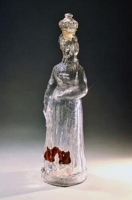 Bottle made as a personification of Alsace