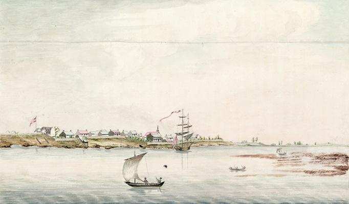 View of the town and fort of Detroit, late eighteenth century