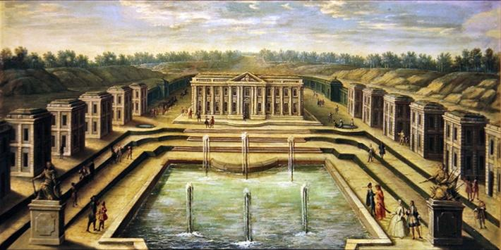 The Chateau and Pavilions at Marly from the perspective of the gardens, early eighteenth century