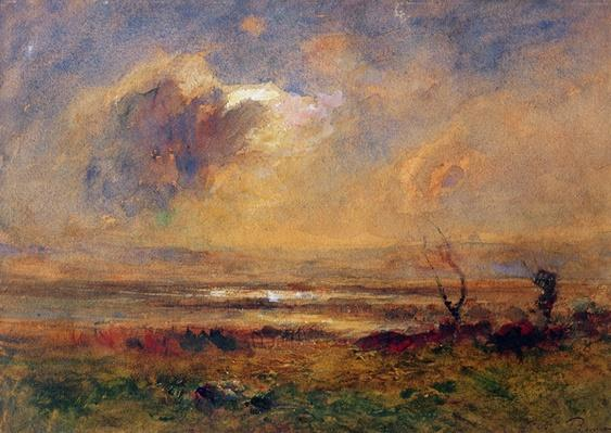 Sunset on the plain, c.1868
