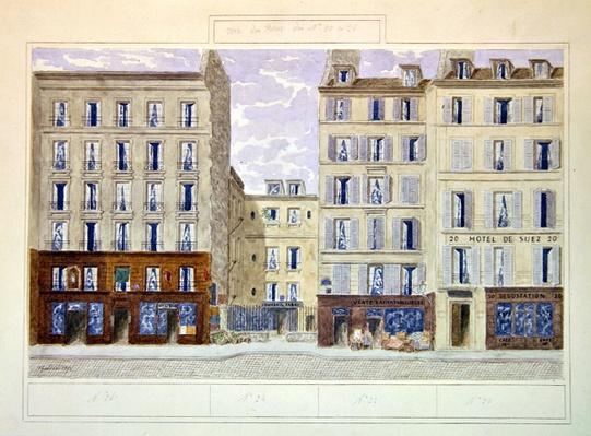 No.20 to No.26 rue du Four, Paris, France, 1893