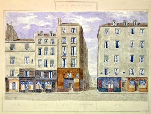 No.28 to No.34 Rue du Four, Paris, France, 1893