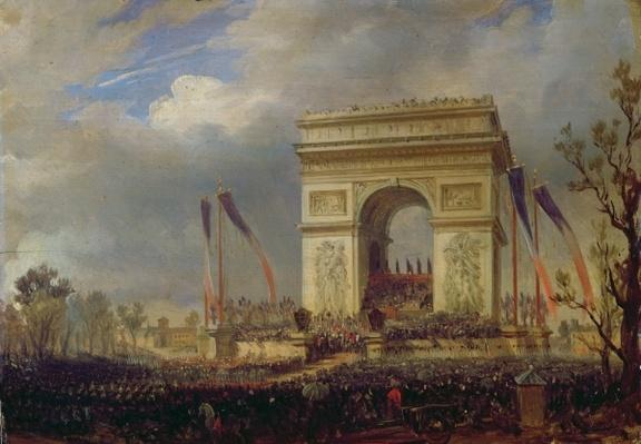 Fete de la Fraternite at the Arc de Triomphe, Place de l'Etoile, Paris om 20th April 1848