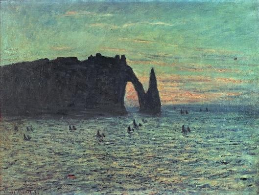 The Hollow Needle at Etretat, 1883
