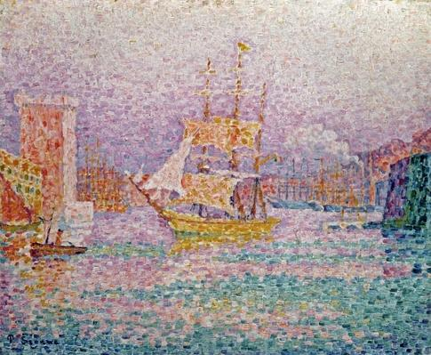 Harbour at Marseilles, c.1906 by Signac, Paul (1863-1935)