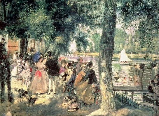 Bathing on the Seine or, La Grenouillere, c.1869