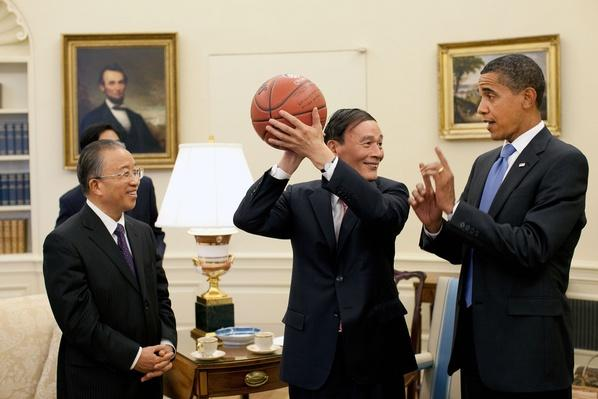 Chinese Vice Premier Wang Qishan and President Obama