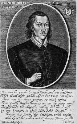 Portrait of John Donne, dated 1591, frontispiece to 'The Poems of John Donne', published 1942