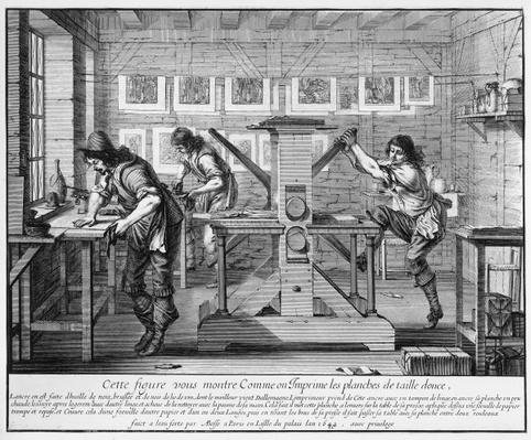 French printing press, 1642